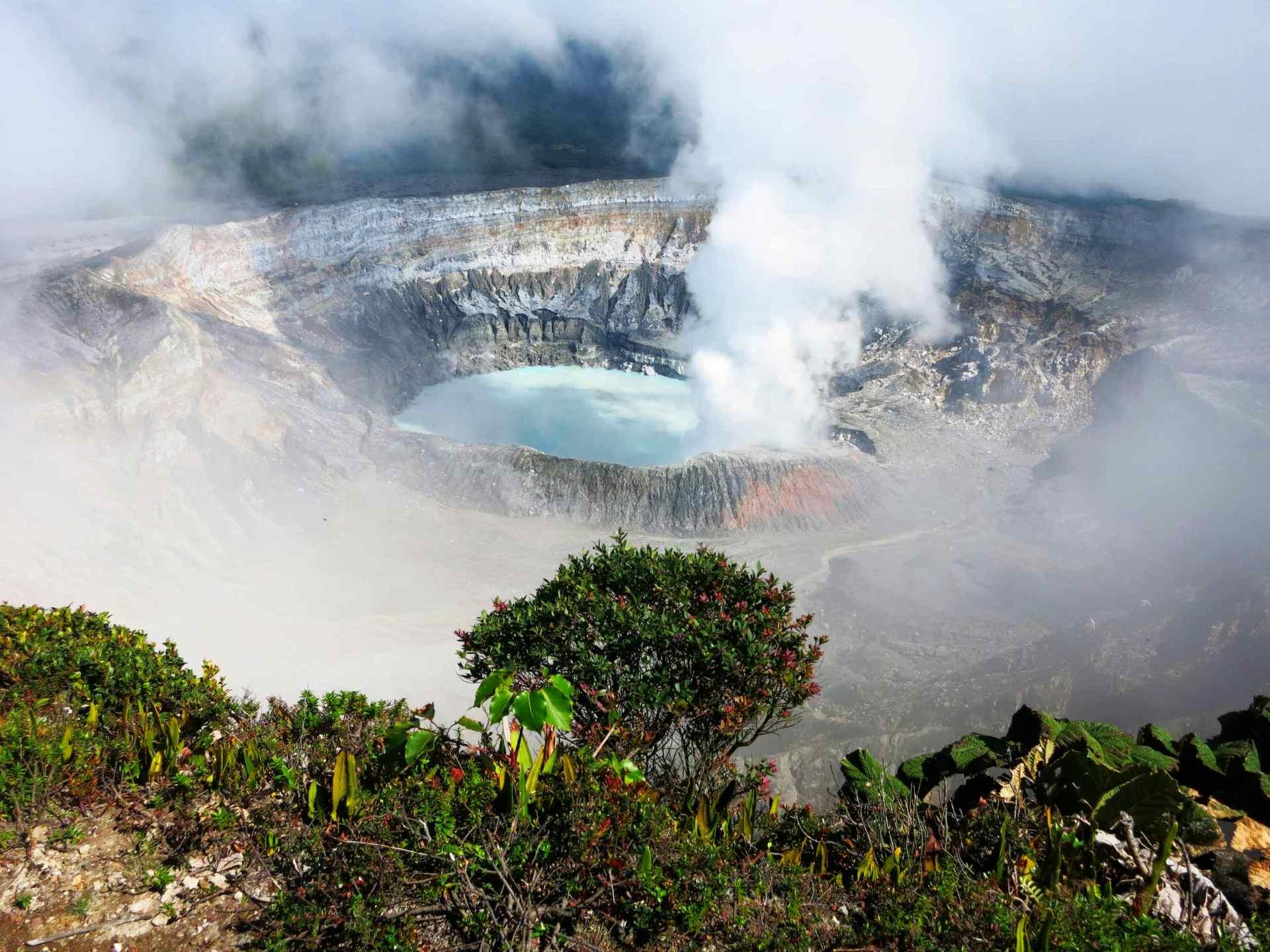 Aussicht Vulkan Poas Hauptkrater