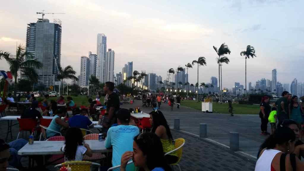 Panama City Essen gehen Promenade