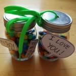 Verschenke Süßes im Glas