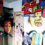 Großartige Graffitis in Rio