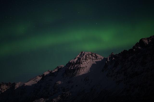 Polarlichter grün